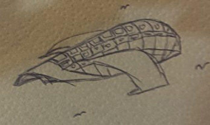 Testigo de avistamiento OVNI sobre Florida da a conocer un boceto de lo que vio