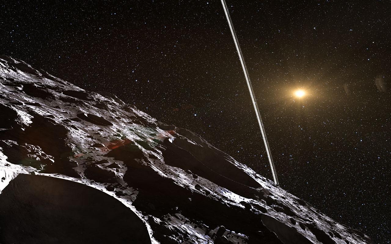 Primer sistema de anillos descubierto alrededor de un asteroide