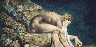 La pintura de William Blake de Sir Isaac Newton