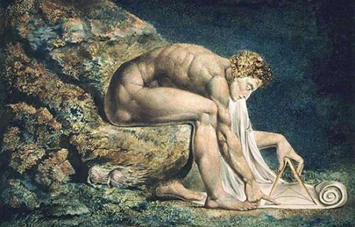 La pintura de William Blake de Sir Isaac Newton