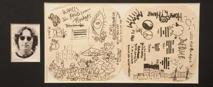 Se subasta el dibujo de un avistamiento OVNI de John Lennon