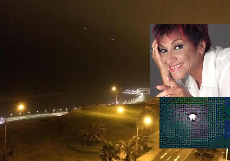Luces extrañas en cielo de Lima, Perú son filmadas en vídeo por actriz y comediante Bettina Oneto