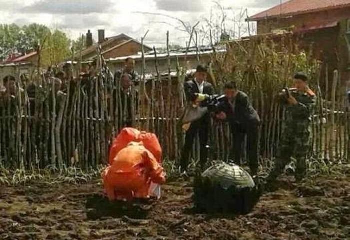 Objeto desconocido se estrella en China