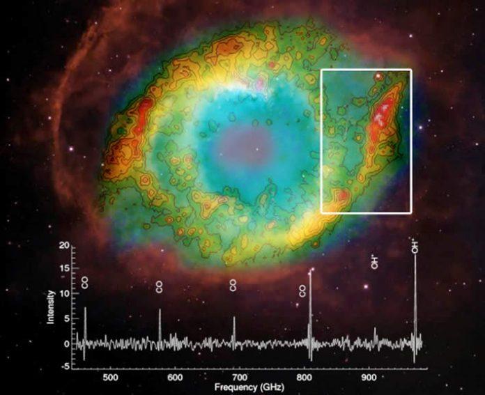 Encuentran un ión fundamental para el agua en varias nebulosas planetarias