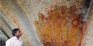 Hallan en India pinturas rupestres que representarían OVNIS y extraterrestres