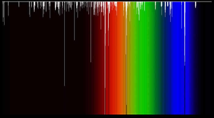 Las bandas interestelares difusas. Crédito de la imagen: P. Jenniskens, FX Desert