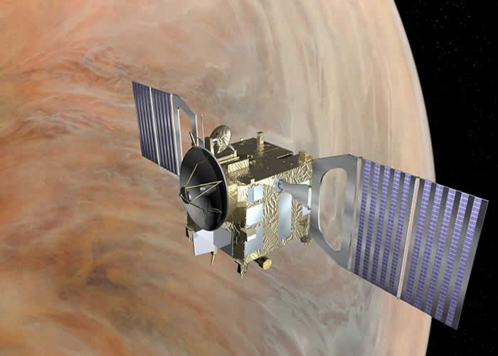 Concepción artística de Venus Express. Crédito: ESA