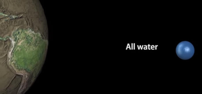 Toda el agua del planeta