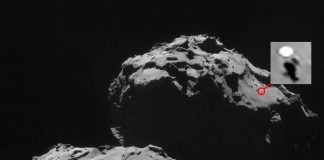 Anomalía es avistada sobre la superficie de Cometa