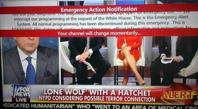 Sistema de alerta de emergencia es visualizado en TVs de Estados Unidos