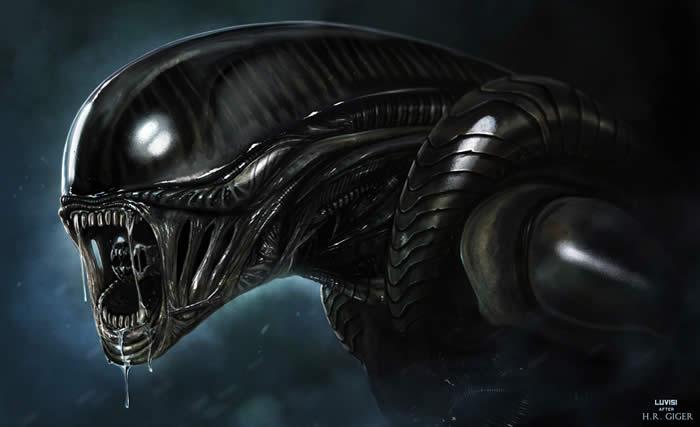 Los bocetos originales de la película Alien (1979)