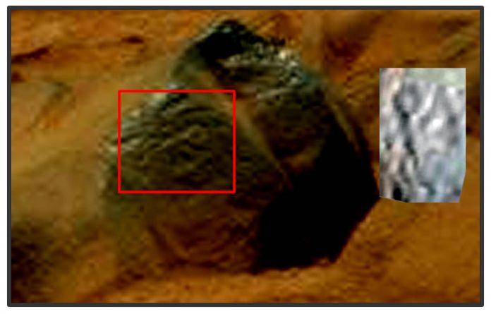 ¿Petroglifo en Marte?