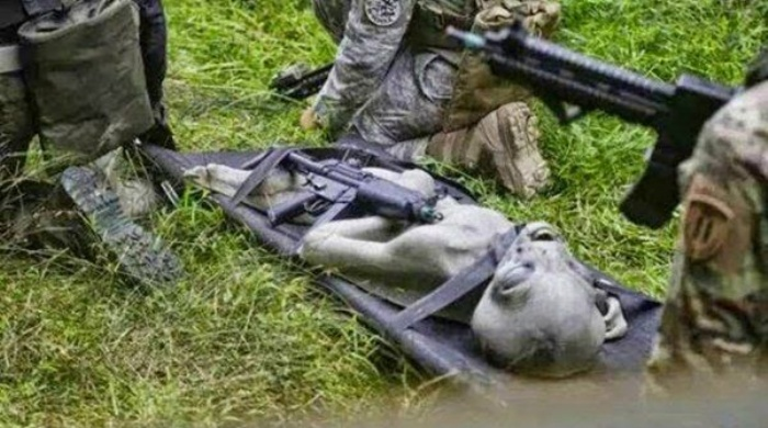 Aparece en Internet fotografía de supuesto extraterrestre capturado por Ejército de EE.UU.