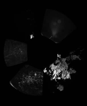 Primera panorámica del cometa