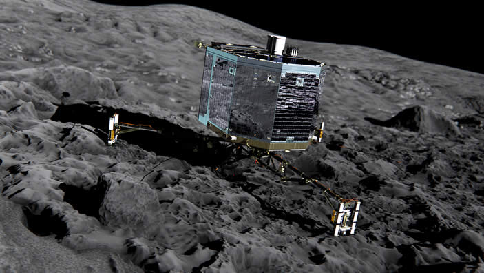 Módulo Philae se prepara para aterrizar sobre Agilkia