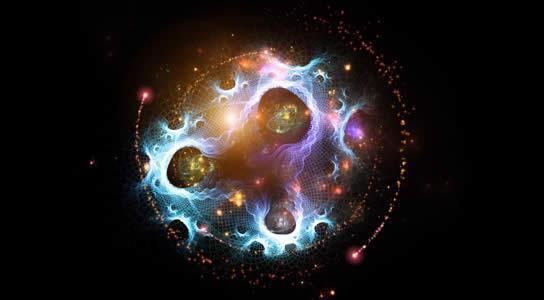 Concepción artística de los universos paralelos