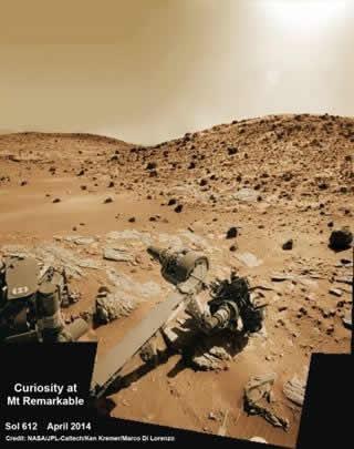 Marte orgánica hallada en Marte