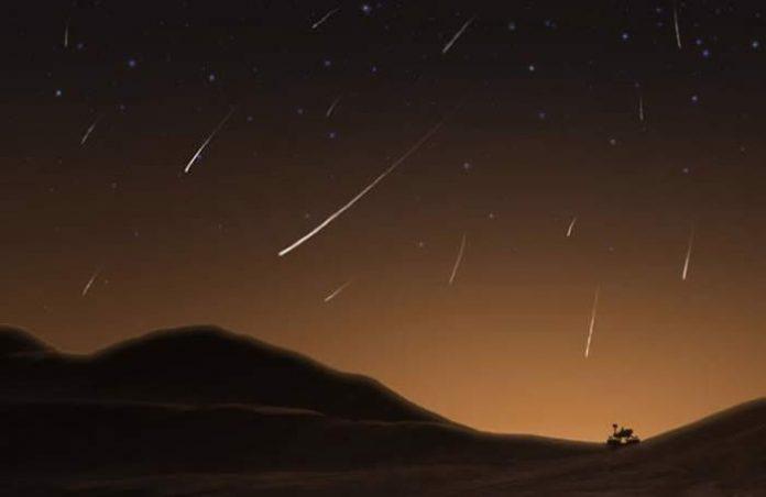 Alguien presente en la superficie de Marte hubiese sido capaz de ver varios meteoros por hora gracias al paso del cometa C/2013 A1 Siding Spring.