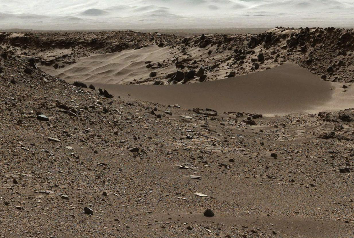 Fotografía panorámica de Marte.