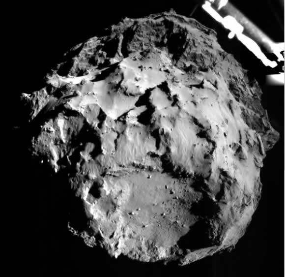 Primera imagen de la cámara ROLIS de Philae (ESA/Philae).