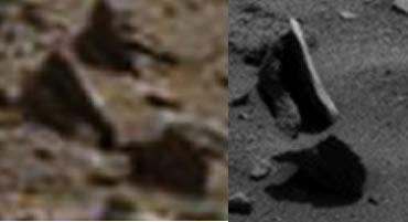 Queda descartada la posibilidad de una roca levitando en Marte. Simplemente fue un efecto óptico.