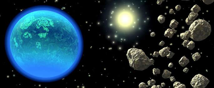 Científicos creen que el agua provendría de asteroides y no de cometas, basándose en la menor distancia de los asteroides a nuestro planeta, y también por las coincidencias de las características del agua presente en ambos.