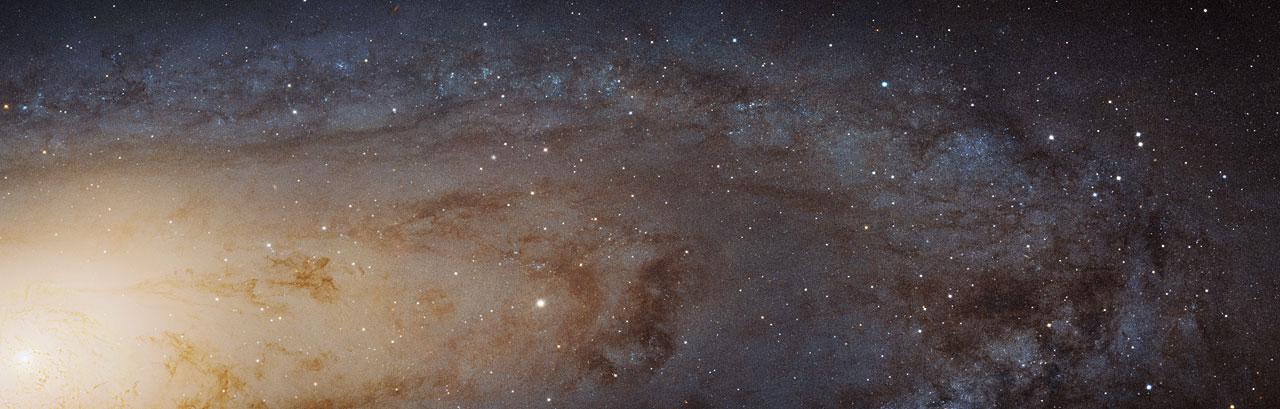 Andrómeda en HD. Esta imagen, captada por la NASA / ESA Hubble Space Telescope, es la mayor y más nítida imagen jamás tomada de la galaxia de Andrómeda.