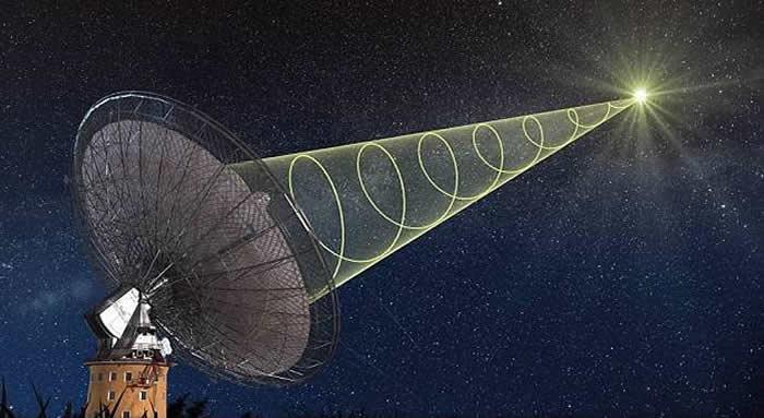 Astrónomos observaron en vivo un estallido rápido de radio, procedente de un lugar desconocido del Universo.