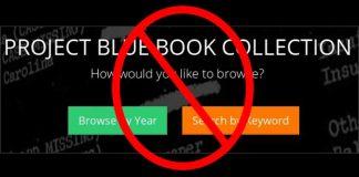 """sitio web """"Proyecto Blue Book"""" fue forzado a cerrar."""