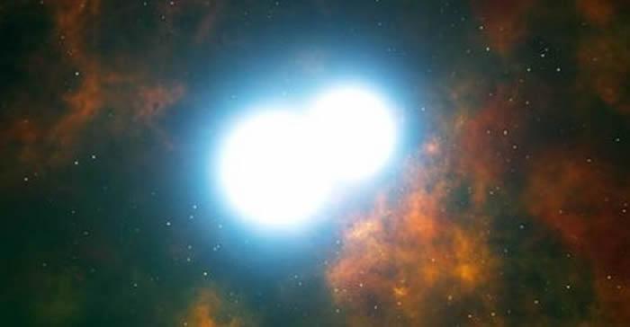 Las dos estrellas están separadas por aproximadamente medio millón de kilómetros