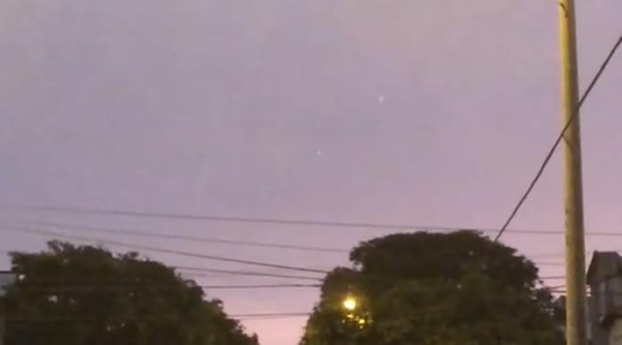 Extrañas luces reportadas sobre San Isidro, Lima (Perú)