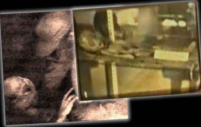Supuestas imágenes que afirman pertenecen a la misma serie de diapositivas del caso Roswell.