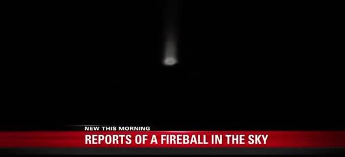 Objeto luminoso fue visto por muchos testigos mientras descendía sobre Utah (E.U) el 23 de febrero (2015).