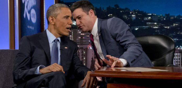 Escena de la entrevista realizada por Jimmy Kimmel a Obama.
