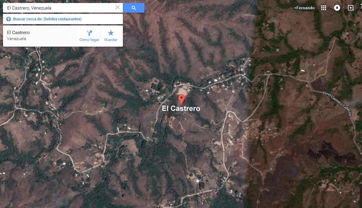 Ubicación del testigo: El Castrero, sector Callecitas.