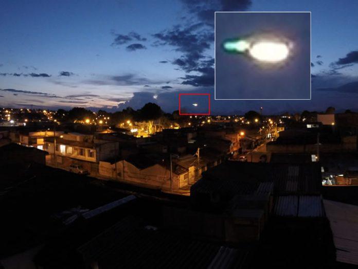 Extraño objeto es captado por GoPro en Popayán, Colombia.