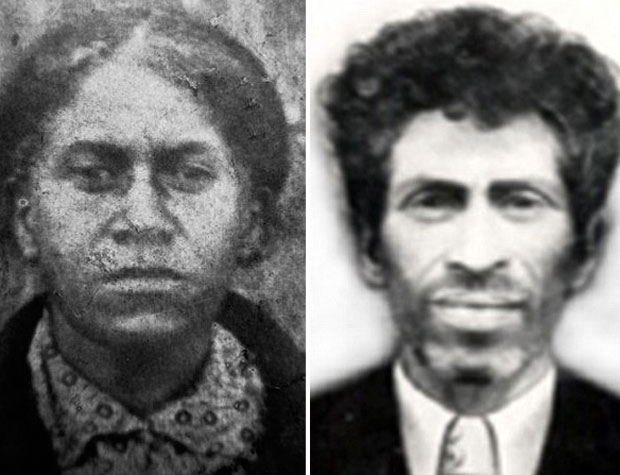 Nieta (izquierda) y el hijo de Zana, Khwit (derecha)