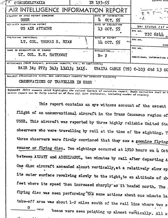 Un extracto del reporte que estuvo clasificado durate 30 años.