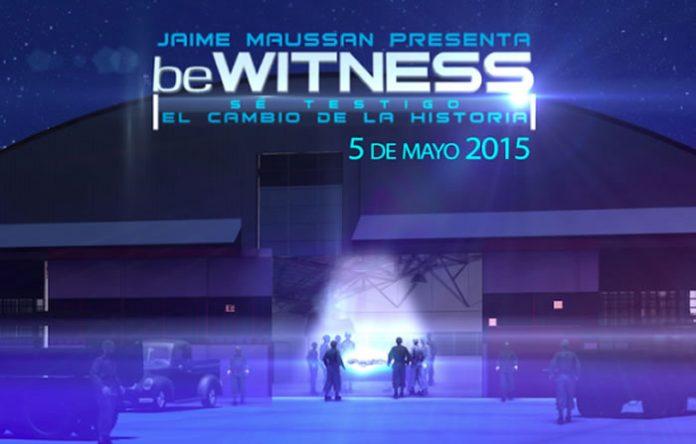 Evento #BeWitness realizándose en el Auditorio de la ciudad de México.