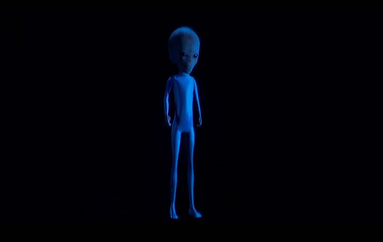 Holagrama del supuesto ser extraterrestre estrellado en Roswell, presentada en #BeWITNESS