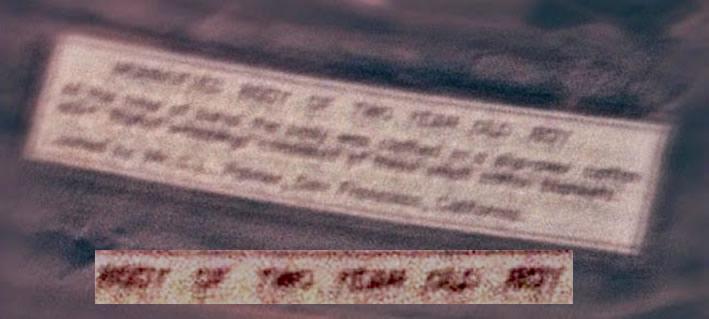 ¿El caso de los Roswell Slides podría resolverse como la momia de un niño? Análisis de las letras borrosas en el cartel parecen afirmarlo