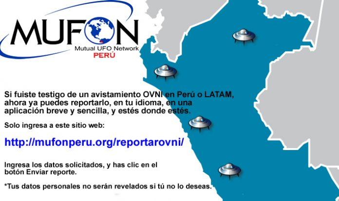 ¿Tuviste un avistamiento OVNI en Perú o Latinoamérica? Repórtalo en: http://mufonperu.org/reportarovni