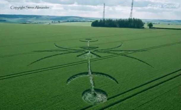 Crop circle en Wiltshire, Inglaterra
