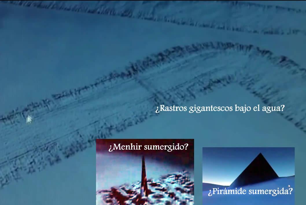 Anomalías sumergidas de Google Earth. ¿Pirámides? ¿Ciudades? ¿Rastros?