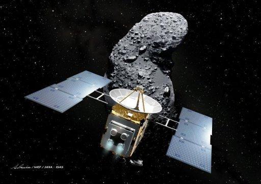 Representación de la sonda japonesa Hayabusa.