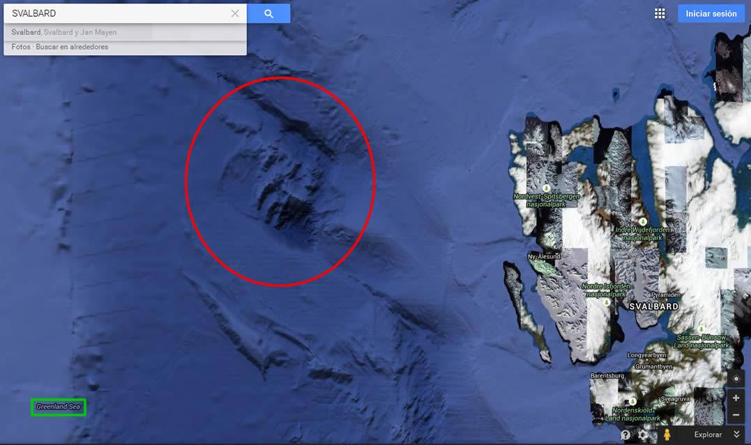 Ubicación en el mapa en donde se encontrarían las anomalías.