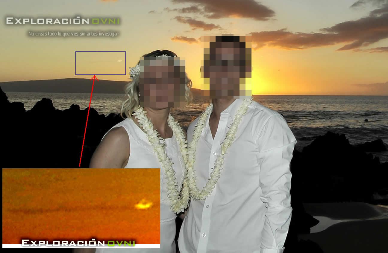 Reporte MUFON - 66179: OVNI capturado en dos fotografías realizadas en Maui.