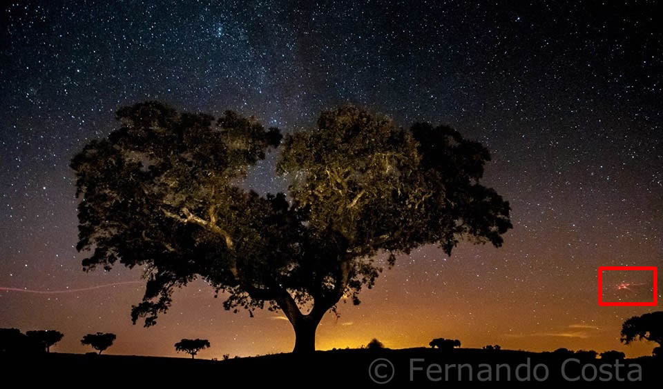 "OVNI captado ""accidentalmente"" por fotógrafo profesional en Portugal."