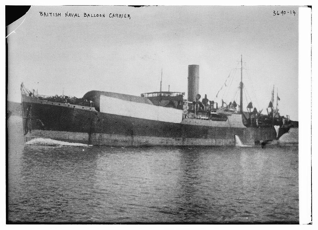 Título: Globo Naval británico Carrier. Crédito: Servicio de Noticias Bain, editor Fecha creada / publicada: [entre ca. 1910 y ca. 1915]