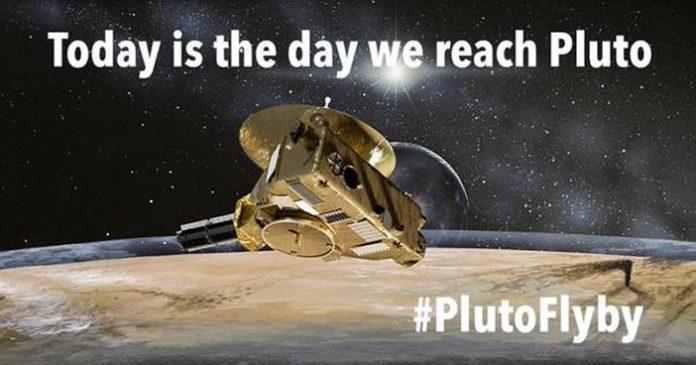Hoy es el día en que llegamos a Plutón. Crédito: NASA